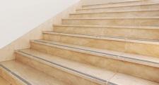 graue gummierte Antirutsch Streifen in 3 cm Breite für Ihre Treppe