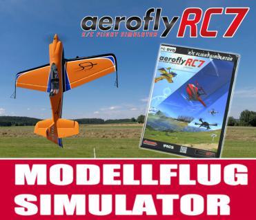 Modellflugsimulator aeroflyRC7 PROFESSIONAL im Set mit USB-Commander