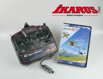 Modellflugsimulator aeroflyRC7 PROFESSIONAL im Set mit USB-Commander - Vorschau 2