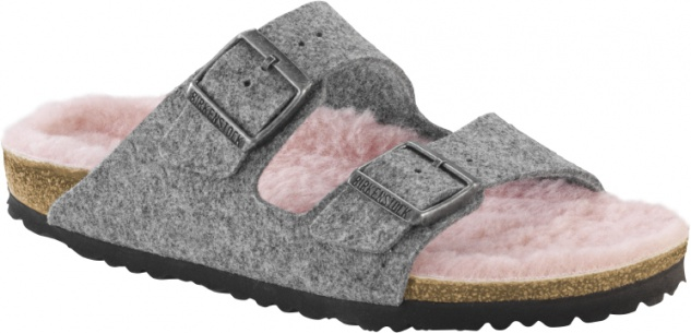 Birkenstock Arizona Damen - Herren Pantolette happy lamb Wollfilz Beliebte Schuhe