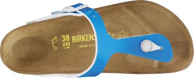 Birkenstock Birko-Flor Gizeh 847361 neon blue Birko-Flor Birkenstock Damen Pantolette 0a4b8c
