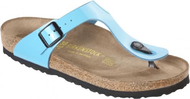 Birkenstock Birkenstock Birkenstock Gizeh 845203 blue lack Damen Pantolette 92441e