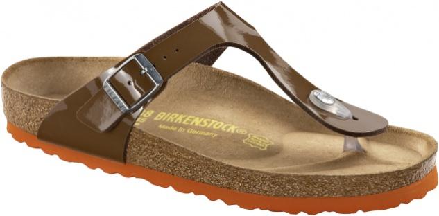 Birkenstock Gizeh bison brown Lack
