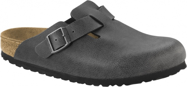 Birkenstock Boston - pull up anthracite Birko - Boston Flor ba4415