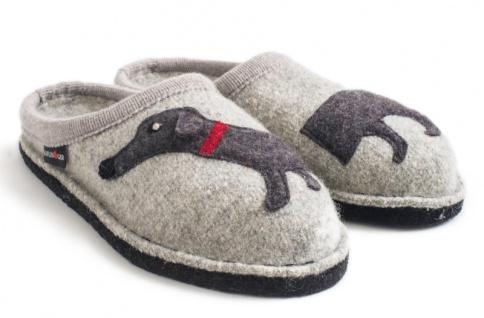 Haflinger Doggy Wollfilz Damen Clog / Hausschuhe