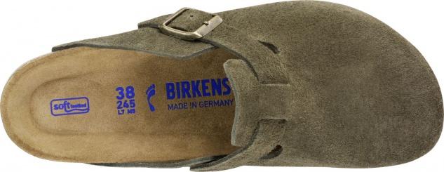 Birkenstock Boston SFB Suede Leather Damen Clogs Freizeit - Vorschau 4