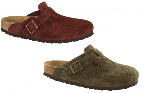 Birkenstock Boston SFB Suede Leather Damen Clogs Freizeit