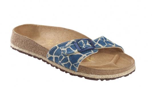 Birkenstock MADRID TEXTIL MIT ESPADRILLE-SOHLE Damen Pantolette Giraffe electric blue