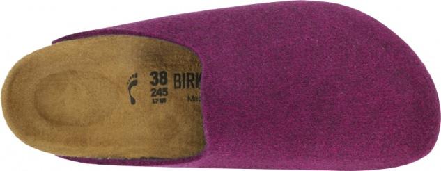 Birkenstock Amsterdam Clog Damen purple Wollfilz