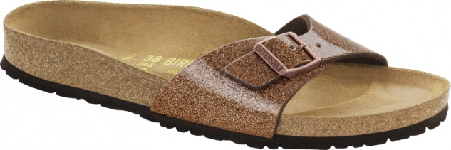Birkenstock Madrid Damen Pantolette Magic Galaxy Birko-Flor Lack Sandaletten Freizeit