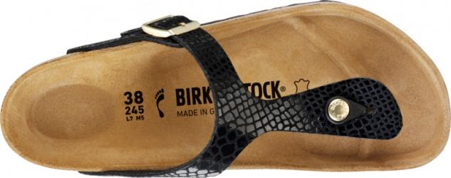 Birkenstock Gizeh Damen Pantolette Birko-Flor Snake Shiny Snake Birko-Flor 4461f8