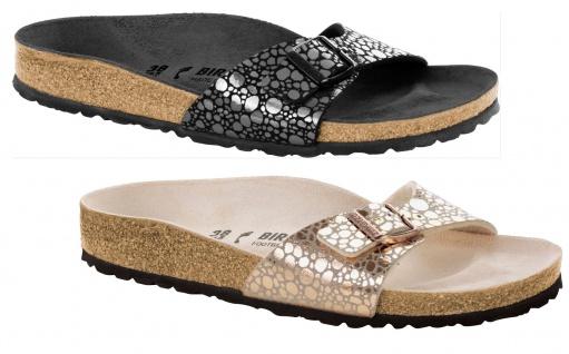 Birkenstock Madrid Damen Pantolette Birko-Flor Metallic Stones