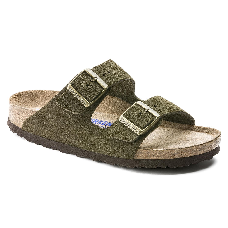Birkenstock Arizona SFB Weichbettung Suede Leather Damen Sandalen Freizeit