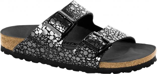 Birkenstock Arizona Birko-Flor Damen Pantolette Metallic stones Birko-Flor Arizona 47577c