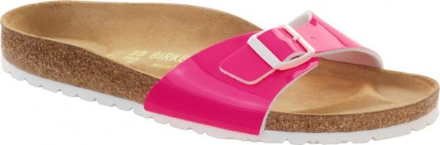 Birkenstock Madrid Damen Pantolette Neon Lack Birko-Flor