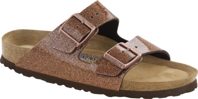 Birkenstock Arizona 057643 bronze magic galaxy Birko-Flor Damen Pantolette - Vorschau