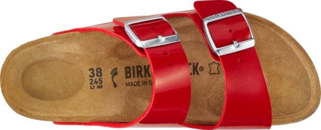 Birkenstock Arizona Damen Pantolette Birko-Flor Lack