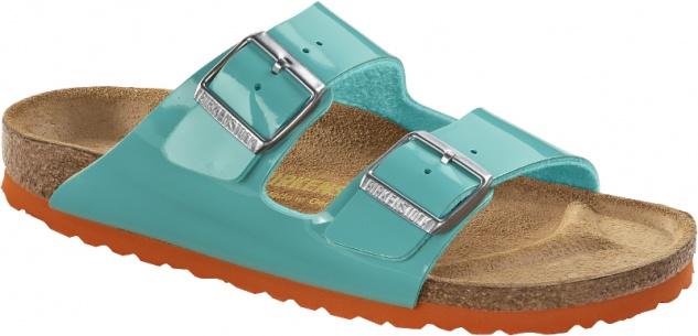 Birkenstock Arizona ocean green Lack Birko-Flor Beliebte Schuhe