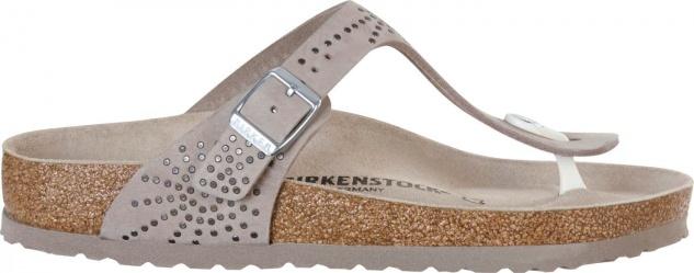 Birkenstock Gizeh Crafted rivets Damen Nubukleder Pantolette mit Nietenschmuck Beliebte Beliebte Nietenschmuck Schuhe bab1b4