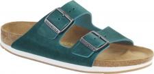 Birkenstock Arizona 057683 turquoise Nubukleder geölt Damen Pantoletten