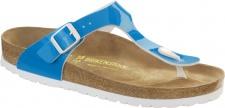 Birkenstock Gizeh 847361 neon blue Birko-Flor Damen Pantolette