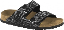 Papillo Arizona Damen Pantolette Naturleder geprägt royal python black