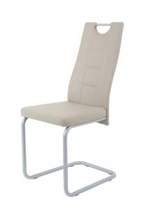 Esszimmerstühle Stühle Freischwinger 2er Set - Katy- Cappuccino