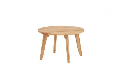 Couchtisch Tisch PIETRO Wildeiche Massivholz 70x70 cm