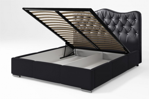 Polsterbett Bett Komplettset SULTAN Kunstleder Weiss 140x200cm - Vorschau 2
