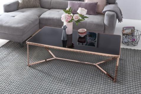 Couchtisch Tisch CHARMS 120x60 cm Metall Glas Schwarz / Kupfer