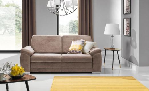 Sofa 3-Sitzer VINZENT Polyesterstoff Taupe 200x90x87 cm