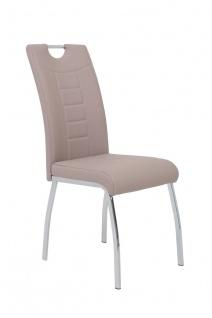 Esszimmerstühle Stühle Vierfußstuhl 4er Set ALIDA Cappucino