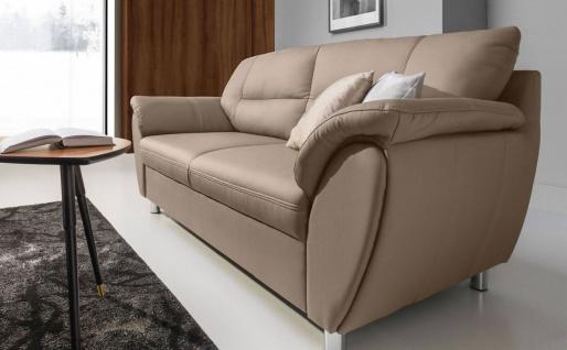Sofa 3-Sitzer SARAH aus Kunstleder Beige 210x90x87 cm