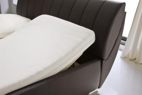 Polsterbett Bett -WIEN - 200x200cm inkl. Bettkasten+Lattenroste Braun - Vorschau 5