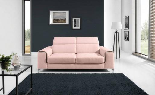 Sofa 3-Sitzer STELLA Polyesterstoff Hellrosa 206x95x105 cm