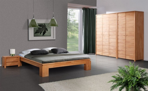 Futonbett Bett Schlafzimmerbet MAISON XL Buche massiv 200x200 cm