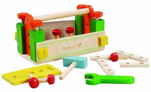 Holzspielzeug - Werkzeugkasten und Werkbank