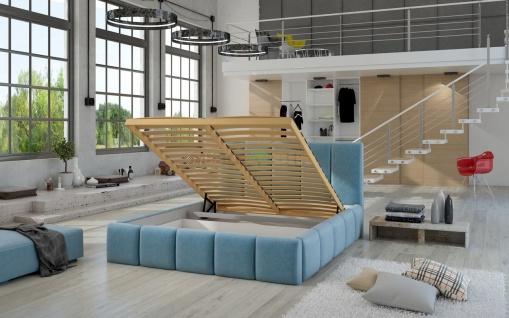 Polsterbett Doppelbett VERONA Komplettset Kunstleder Creme 120x200cm - Vorschau 3