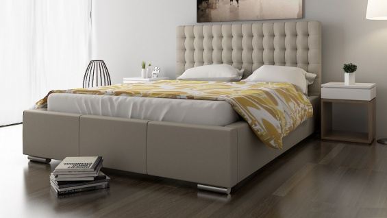 Polsterbett Bett Doppelbett DAMASO XL 160x200cm inkl.Bettkasten