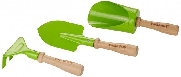 Holzspielzeug - 3 teiliges Set Hand Gartengeräte