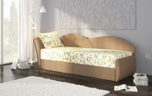 Sofa Schlafsofa inklusive Bettkasten ALINA / L - Beige / Muster