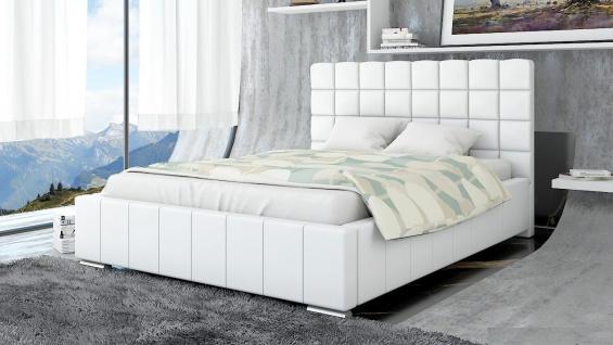 Polsterbett Bett Doppelbett MATTEO XL 140x200cm inkl.Bettkasten