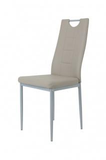 Esszimmerstühle Stuhle Vierfußstuhl 4er Set - Karin - Cappuccino