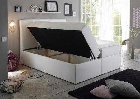Boxspringbett Schlafzimmerbett MONZA Kunstleder Weiss 120x200 cm - Vorschau 2