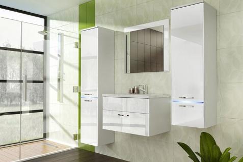 Badmöbel Set 5-Tlg Weiss Badezimmerset - Liva-inkl.Waschtisch inkl.LED - Vorschau 1