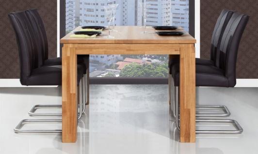 Esstisch Tisch MAISON Eiche massiv 80x80 cm - Vorschau 2