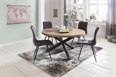 Esszimmertisch Tisch LANDO 130x130 cm Landhaus-Stil Sheesham Voll-Holz