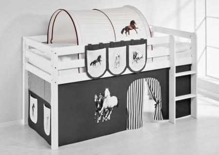 Tunnel Pferde Braun - für Hochbett. Spielbett und Etagenbett