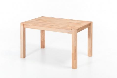 Esstisch Tisch DARVIN 120x80 Kernbuche massiv / Fuß 75x75 mm