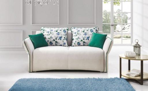 Sofa 2-Sitzer mit Schlaffunktion ROSALIE Polyesterstoff Ecru
